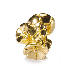Trollbeads Gold Charm Forget Me Not