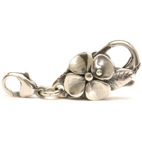 Trollbeads Big Flower Lock, silver clasp, fits Trollbeads bracelets.