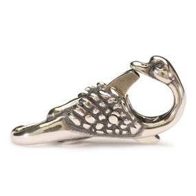 Trollbeads Swan Lock, Sterling Silver clasp, fits Troll Bracelets