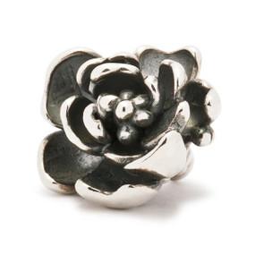 Trollbeads Silver Charm Rose Pendant