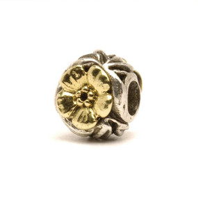 Trollbeads Silver and Gold Charms Flowers