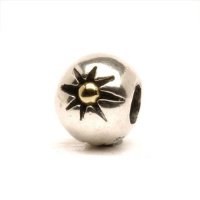 Trollbeads Silver and Gold Charm Three Stars