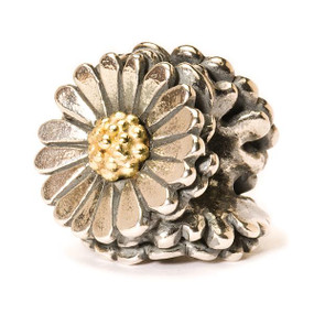 Trollbeads Silver and Gold Charm Daisy
