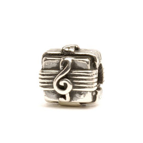 Trollbeads Silver Charm, Music Box, Fits Troll Bracelets