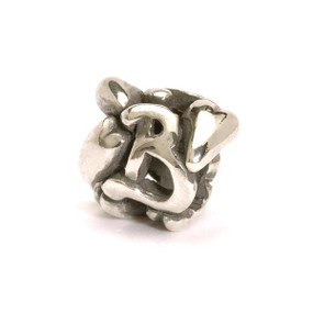 Letter Bead B, Silver