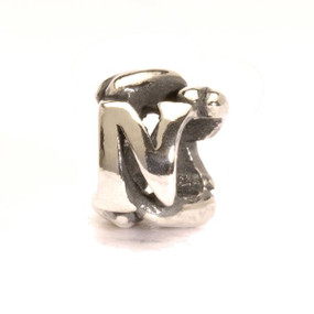 Letter Bead N, Silver