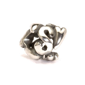 Letter Bead S, Silver