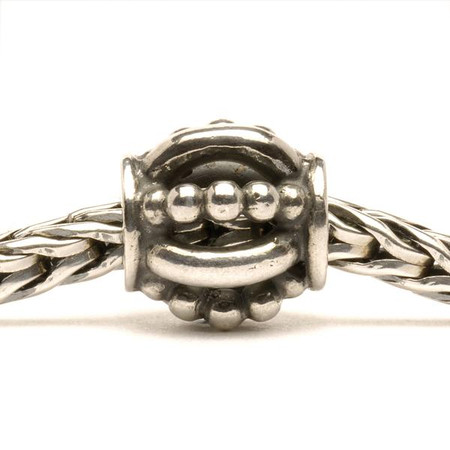 Trollbeads Silver Charm Royal on Troll Bracelet