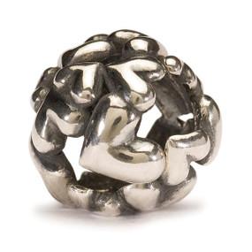 Trollbeads Silver Charm Heart Ball 11446