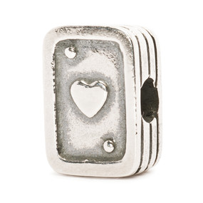 Trollbeads Silver Charm Playing Cards
