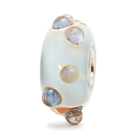 Trollbeads Glass Bead Blue Moonstone