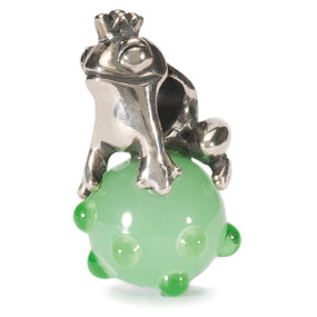 Trollbeads Silver & Glass Charm, The Frog Prince, World Tour Germany
