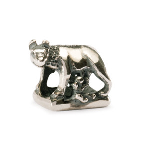Trollbeads Silver Charm Romulus & Remus, Trollbeads World Tour Italy