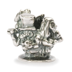 Trollbeads Silver Charm English Tea Party, World Tour United Kingdom, TrollbeadsAkron.com