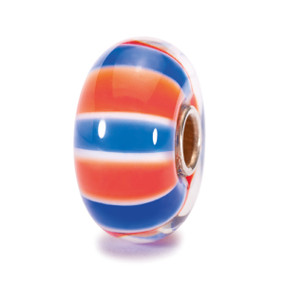 Trollbeads Glass Bead, UK Colors, World Tour United Kingdom, TrollbeadsAkron.com