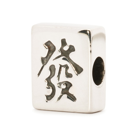 Trollbeads Silver Charm, Mahjong Fortune, World Tour Hong Kong, TrollbeadsAkron.com