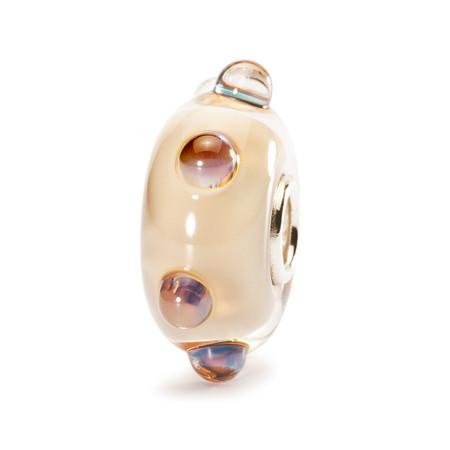 Trollbeads Glass Bead Beige Moonstone