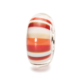 Trollbeads Glass Bead Strawberry Stripes