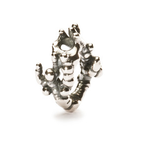Trollbeads Silver Charm, Coral Branch, Troll Beads Spring Beads, TrollbeadsAkron.com