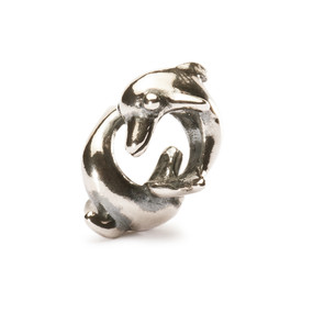 Trollbeads Silver Charm, Playing Dolphins, New Troll Beads Spring Beads 2013, TrollbeadsAkron.com