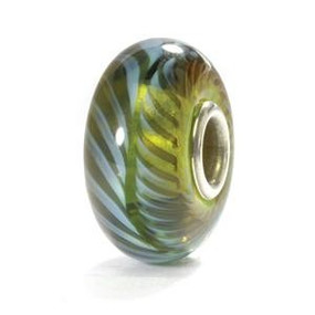 Trollbeads Blue Green Feather