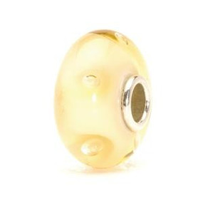 Trollbeads Glass Beads Beige Bubbles