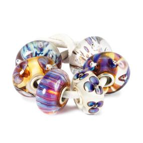 Trollbeads Glass Beads Purple Heaven Kit