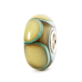 Trollbeads Glass Beads Aqua Edge Petals