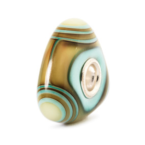 Trollbeads Glass Beads Aqua Edge Triangle