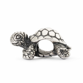 Trollbeads African Tortoise Silver Charm, Trollbeads Spring 2014 Collection, Side View