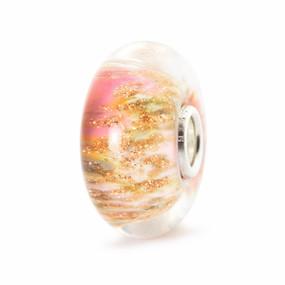 Troll Beads New Spring Beads, Desert Rose Glass Trollbead
