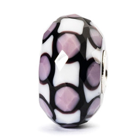 Trollbeads glass bead Lavender Facet, Trollbeads Mother's Day collection 2014.