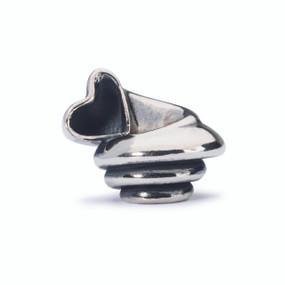 Trollbeads Heart Conch, Silver Charm, Order Trollbeads Online