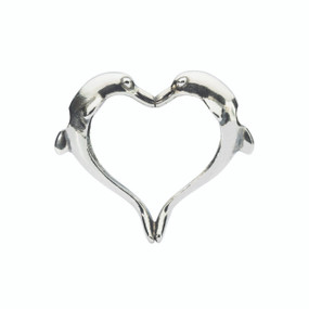 Trollbeads Dolphin's Heart Pendant, Spring 2015 Collection, TrollbeadsAkron.com