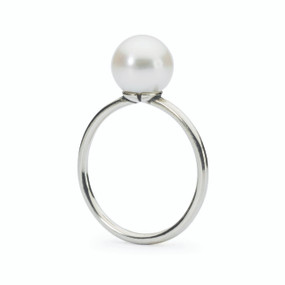 Trollbeads White Pearl Ring, Spring 2015 Collection, TrollbeadsAkron.com