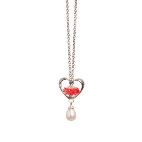 Trollbeads In Your Heart Polished Silver Necklace, Valentine's Day Collection 2015, TrollbeadsAkron.com