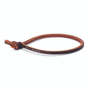 Trollbeads Single Leather Bracelet, Brown | TrollbeadsAkron.com