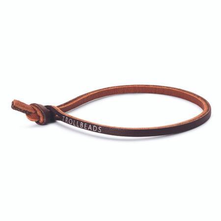Trollbeads Single Leather Bracelet, Brown | TrollbeadsAkron.com