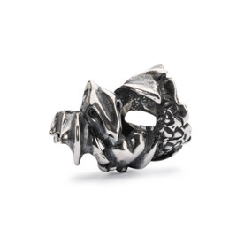Trollbeads Love Dragon Bead, Silver
