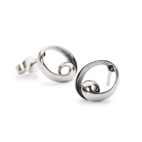 Trollbeads Neverending Studs, Silver