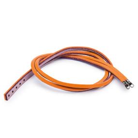 Trollbeads Leather Bracelet Pumpkin/Grape