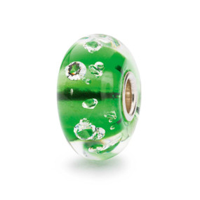 Trollbeads Diamond Bead, Emerald Green, Holiday 2015