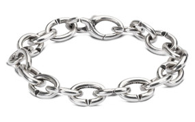 X Jewelry Classic Single Silver Bracelet