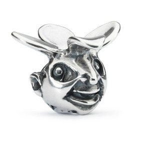 Trollbeads Silver Charm Troll Of Curiosity, Front View