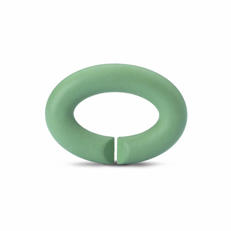 X Jewelry Rubber X, Pale Green