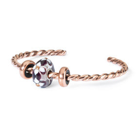 Trollbeads Summer Flourish Twisted Copper Bangle