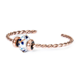 Trollbeads Summer Blossom Twisted Copper Bangle