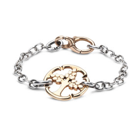 X Jewellery Golden Tree Chain Bracelet