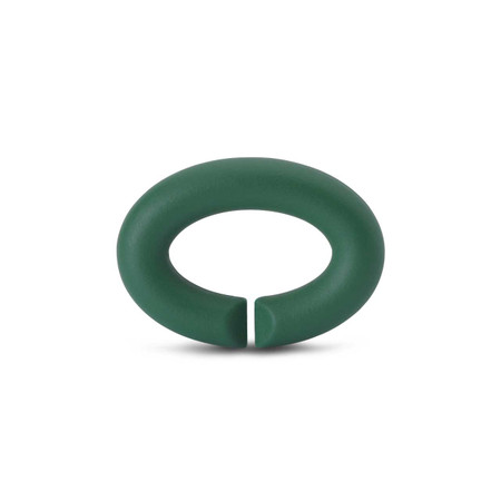 X Jewellery Keen Green Rubber X