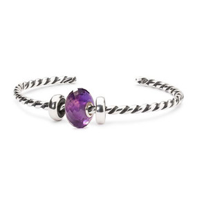 Trollbeads Peaceful Plum Twisted Bangle
